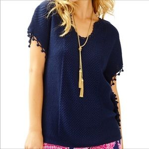 Lilly Pulitzer Keating Poncho Sweater 23337
